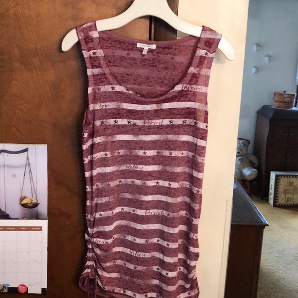 Maurices Tops - MAURICES burgundy tank